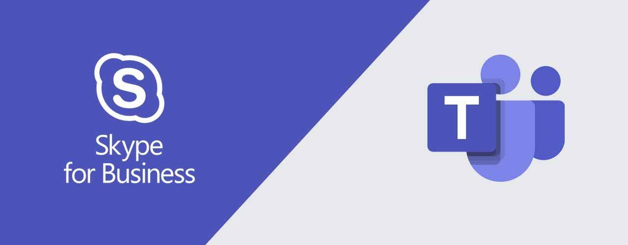 Banner med Skype for Business